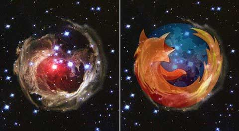 firefox in space