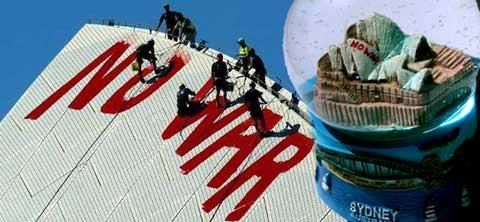 no war sydney opera house